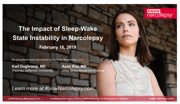The Impact of Sleep-Wake State Instability in Narcolepsy